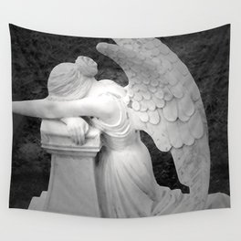 crying angel Wall Tapestry