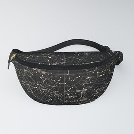 Constellations Map, Stars, Astronomy Cosmos Galaxy Fanny Pack