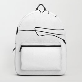 Bird Flying Continuous Line Backpack