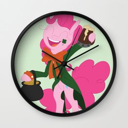St Pattys Pinkie Wall Clock