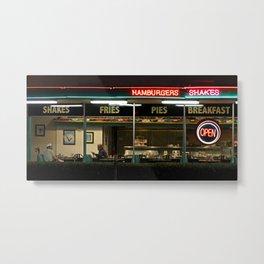 George's 50s Diner Metal Print