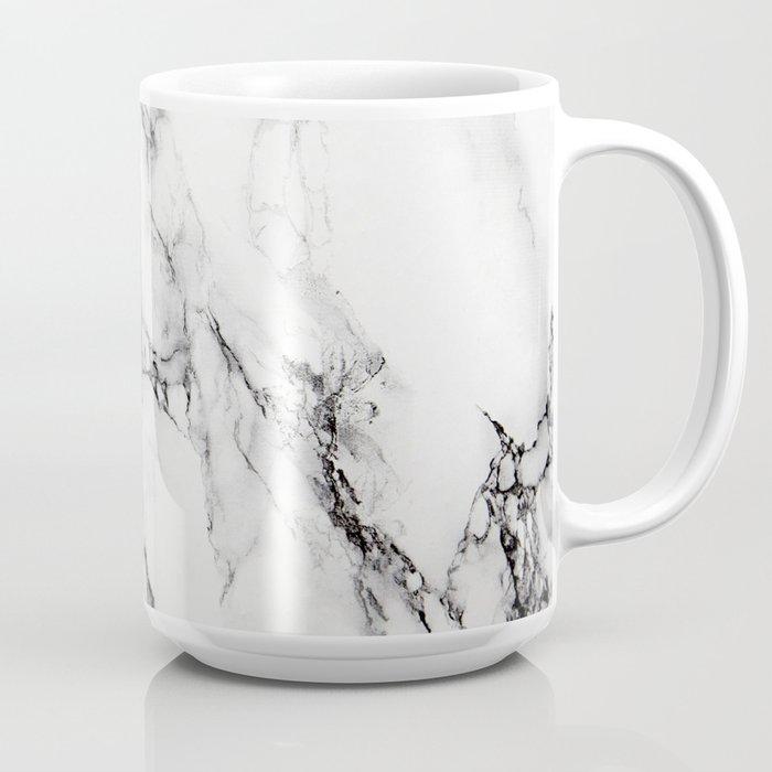 White Marble Texture Coffee Mug