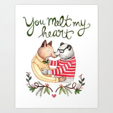 Melt My Heart Art Print