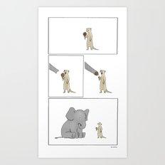 Friends Share  Art Print