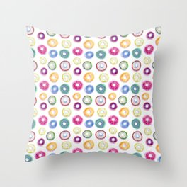 Donuts! Throw Pillow