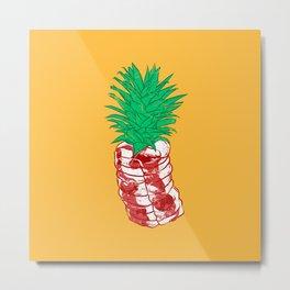 Pineapple meat Metal Print