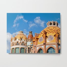 Modernism architecture in Barcelona Metal Print