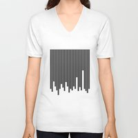cityscape V-neck T-shirts featuring Cityscape by The Blonde Dutch Girl