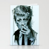 david lynch Stationery Cards featuring David Lynch by Marco Draisci