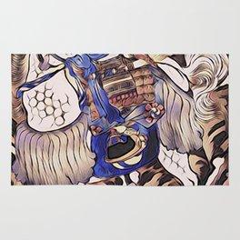 Tomoe Gozen- Female Samurai Rug