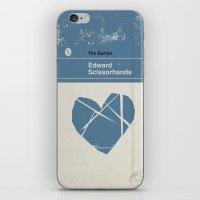 edward scissorhands iPhone & iPod Skins featuring Edward Scissorhands by Bubblegum Prints