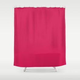 Flushed Maroon Shower Curtain
