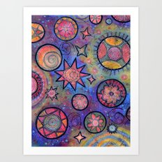 Sending Love and Healing Light Celestial Design Art Print
