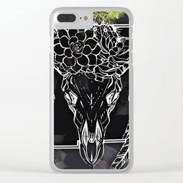 Skull and Succulants Clear iPhone Case