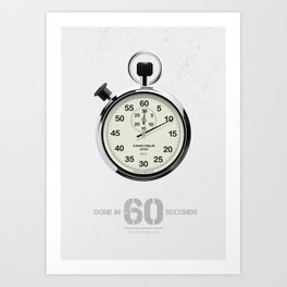 Gone in 60 Seconds - Alternative Movie Poster Art Print