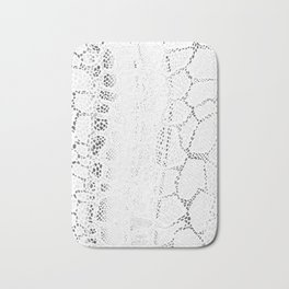 White Snake Skin Bath Mat