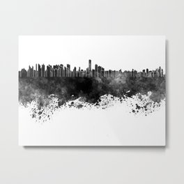 Asuncion skyline in black watercolor Metal Print