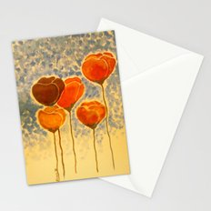 Watercolour Poppies Stationery Cards