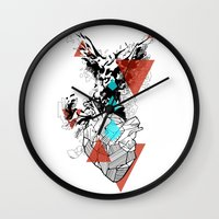 paramore Wall Clocks featuring Wounds Will Heal by DrøpDeadRian
