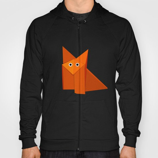Cute Origami Fox Hoody