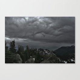 Olympic Mountain Rain Storm Canvas Print