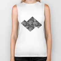 vancouver Biker Tanks featuring Vancouver Grey by Mark John Grant