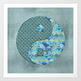 Yin Yang Ocean Spirit Art Print