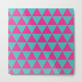 Pink triangles Metal Print