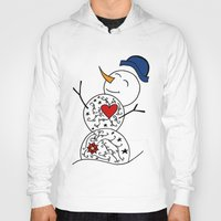 snowman Hoodies featuring Snowman  by #dancingpenguin
