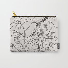 Charcoal Tropics Carry-All Pouch
