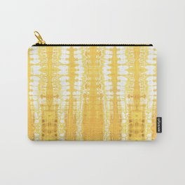 Shibori Itajime Table Yellow Carry-All Pouch
