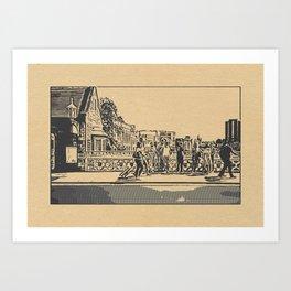 York Scenes (Stamp Edit #2) Art Print
