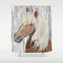 Haflinger Horse Shower Curtain