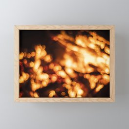 Out of Focus Fire Framed Mini Art Print