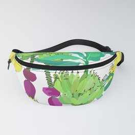 Banana Bunches in White Fanny Pack