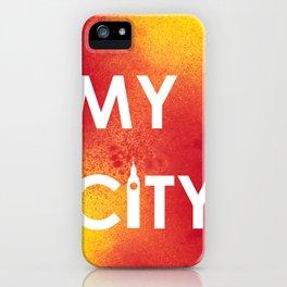 MyCity-London-RedYellowA iPhone Case