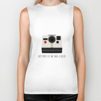 selfie Biker Tanks featuring Selfie by Laura Maria Designs
