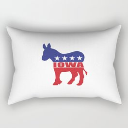 Iowa Democrat Donkey Rectangular Pillow