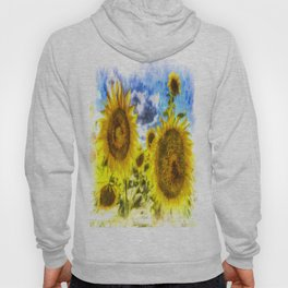 Summers Day Sunflowers Art Hoody