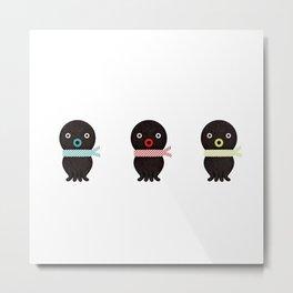 Three octopuses Metal Print