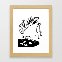 Friend or Foe Framed Art Print