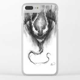 The Klyntar Symbiote Clear iPhone Case