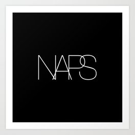 Naps Cosmetic Chic Black Typography Art Print
