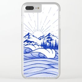 Blue vibes I Clear iPhone Case