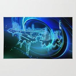 Blaue Stadt - Blue City Rug