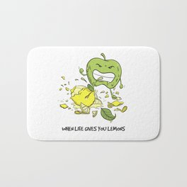 When Life Gives You Lemons by dana alfonso Bath Mat