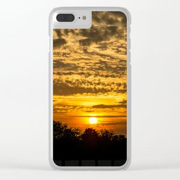 Rooftop Sunset Clear iPhone Case