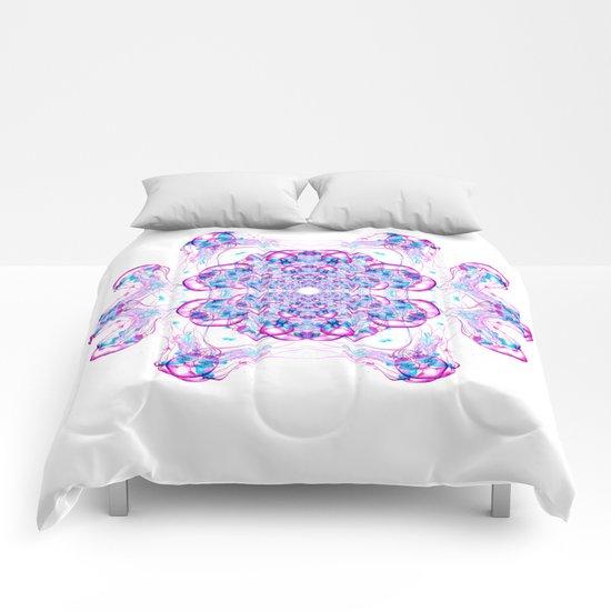 Jellyfish Mandala Comforters