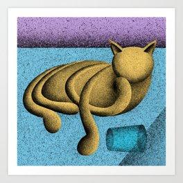 Nudge (Electric Catnip) Art Print