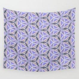 Purple Peacock Pattern Wall Tapestry